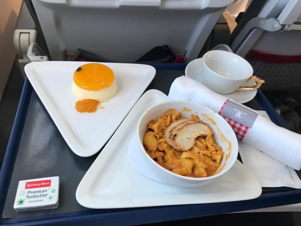 Austrian Business Class Lunch
