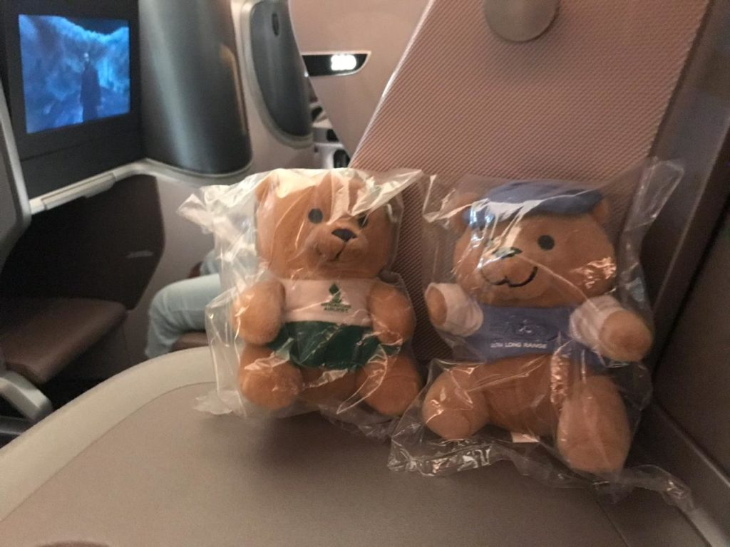 Teddy Bear Singapore Airlines