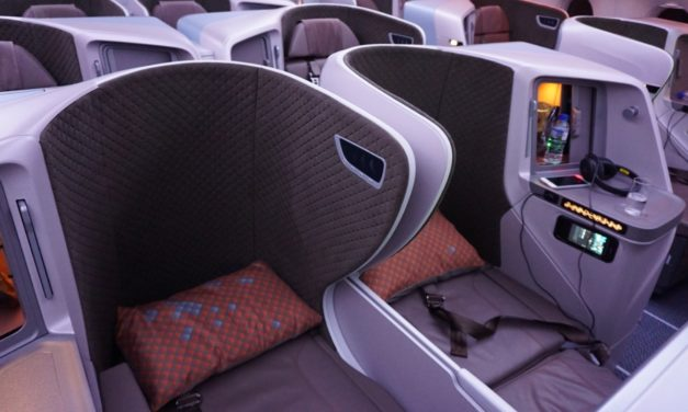 "Flight Review: Singapore Airlines Business Class A350-900R ""Honeymoon Seats"" Singapore – Jakarta"